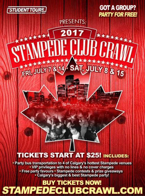Stampede Club Crawl 2017 Saturday July 8th Ticketzone