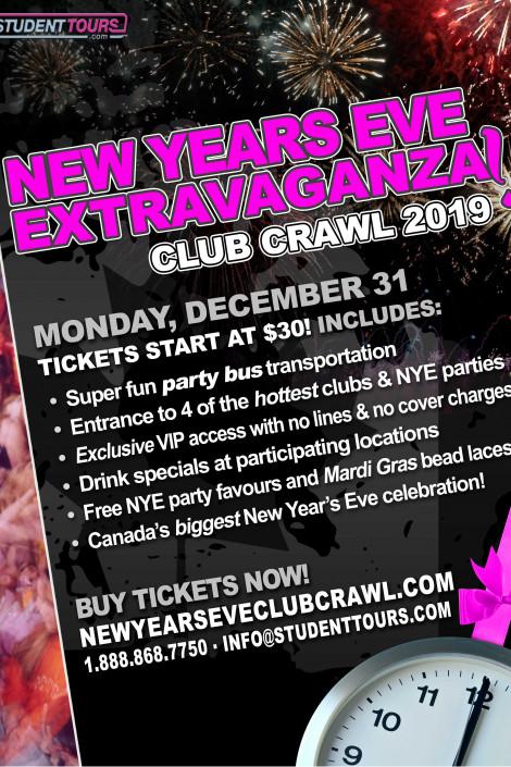 Calgary New Years Eve Club Crawl 2019! | ticketZone