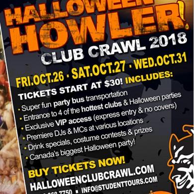 vancouver halloween club crawl 2018