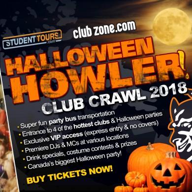 vancouver halloween club crawl 2018 ticketzone