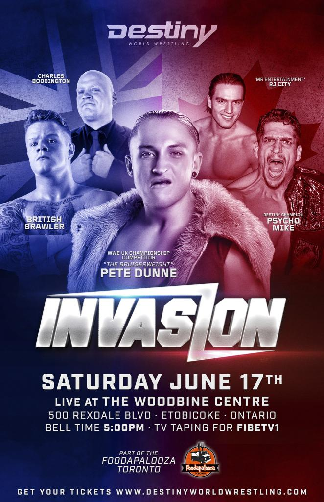 Destiny presents INVASION staring PETE DUNNE