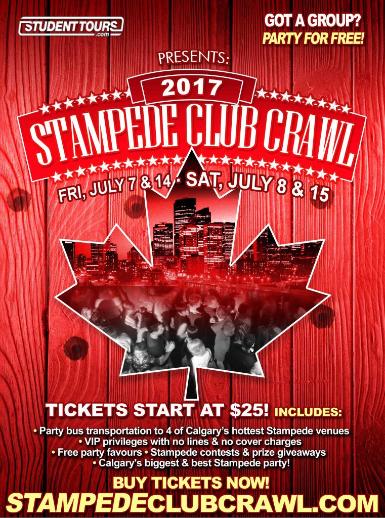 Stampede Club Crawl 2017 | Saturday July 8th