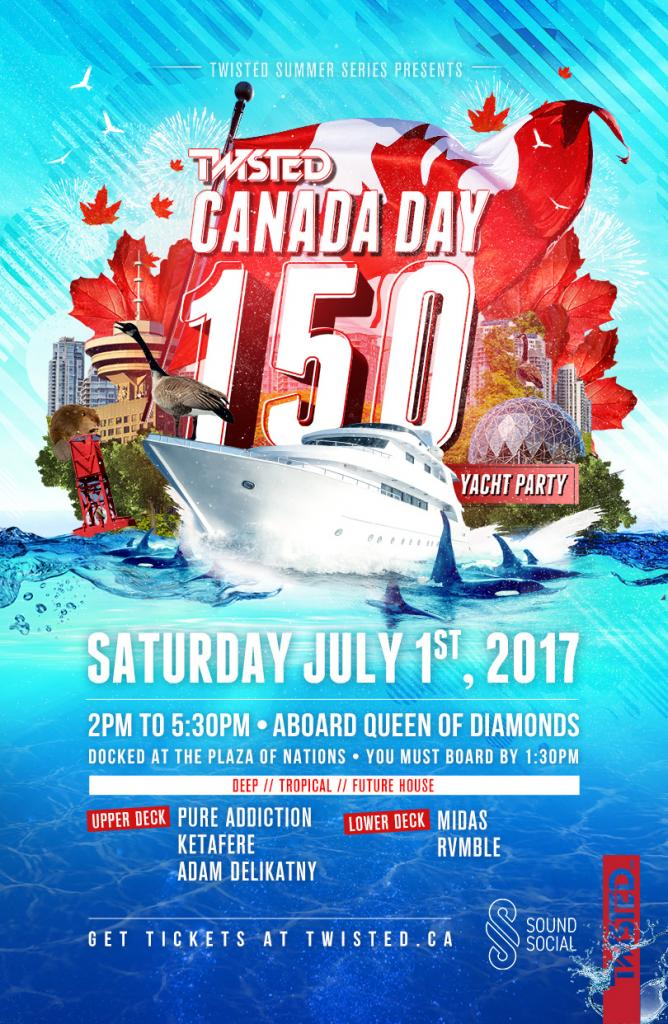 TWISTED CANADA DAY 150 YACHT PARTY