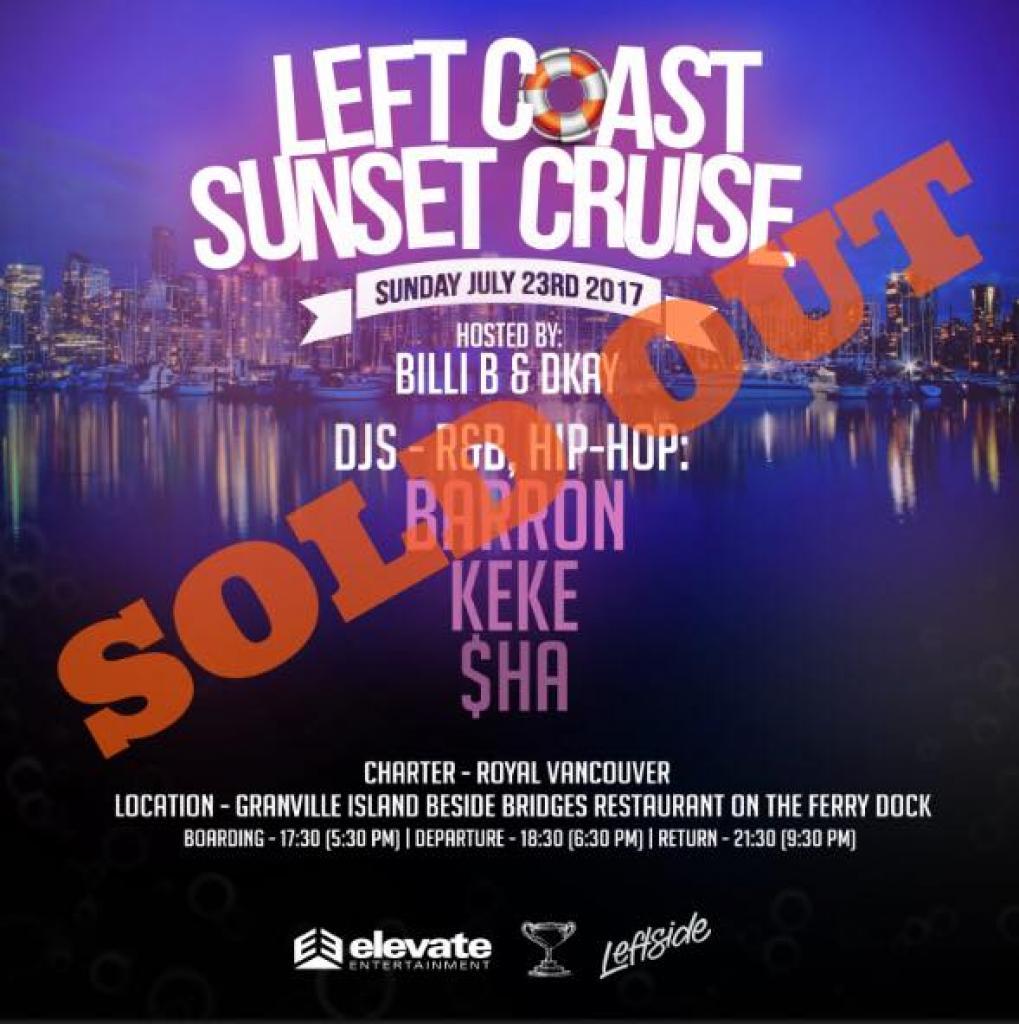 Left Coast Sunset Cruise
